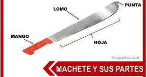 partes del machete